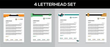Professional Letterhead Template Set vector