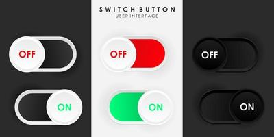 Minimalist Switch Button On Off in Neumorphism Design vector