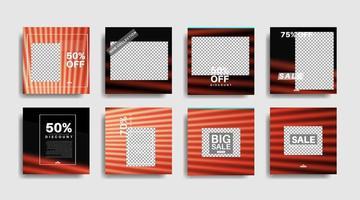 banner web cuadrado de promoción moderna para redes sociales. ilustración de diseño vectorial