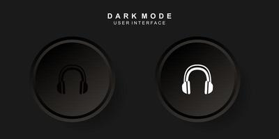 Simple Creative Headset User Interface in Neumorphism Design. Simple modern and minimalist. vector