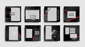 Modern square edited promotional banners for social media posts. vector design illustration