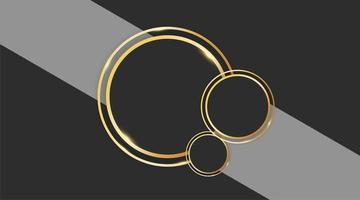 Abstract circle vector design with gold ring on gray background