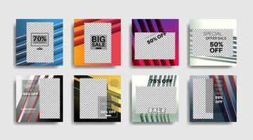 banner web cuadrado de promoción moderna para redes sociales. diseño vectorial