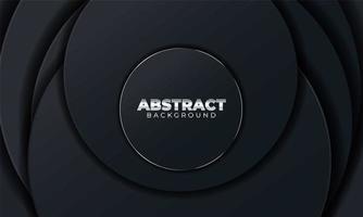 fondo abstracto con formas geométricas. Fondo abstracto negro con formas geométricas de papel. ilustración vectorial