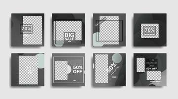 Plantilla de banner de forma geométrica que se puede editar para publicaciones en redes sociales. diseño vectorial