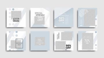 Plantilla de banner de forma geométrica que se puede editar para publicaciones en redes sociales. diseño vectorial vector