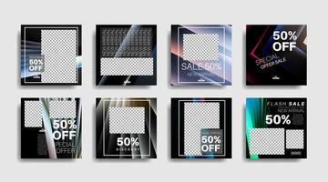 Modern promotion square web banner for social media . vector design illustration