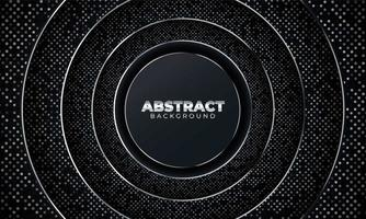 Abstract background with geometric shapes. Black abstract background with geometric paper shapes. Vector illustration