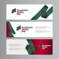 feliz día de la independencia de bangladesh celebración vector plantilla diseño ilustración