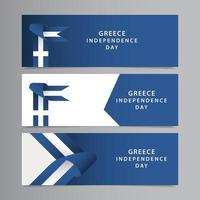 Feliz día de la independencia de Grecia celebración vector plantilla diseño ilustración