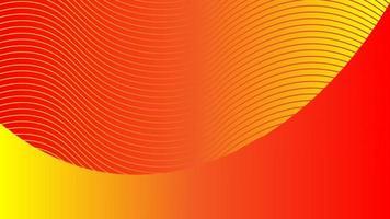Fondo abstracto de líneas onduladas envueltas en color degradado naranja