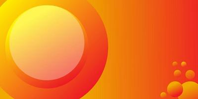 Abstract circle element with orange background