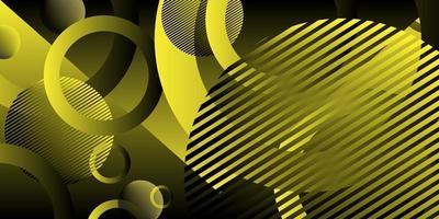 Fondo abstracto color amarillo raya negra con círculo