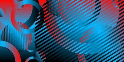 Fondo abstracto color rojo raya negra con círculo