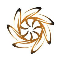 Brown flower shaped spirograph circle symbol vector