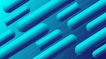 Tubo de tubo de fondo abstracto con efecto 3d envuelto en rayas azules