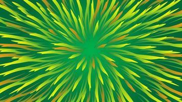 Fondo de colores con diseño de plumas verdes