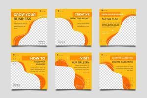 Plantillas de publicaciones de redes sociales de agencias de marketing digital. vector