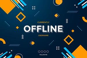 Abstract Gaming Background for Offline Stream vector