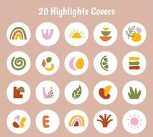 Big set of various hand drawn vector highlight covers