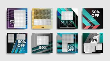 Modern promotion square web banner for social media . vector design
