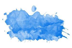 plantilla de vector de salpicaduras de acuarela azul
