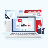 Black Friday Shopping Concept Illustration vector