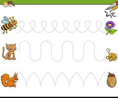 trace lines writting skills educational workbook