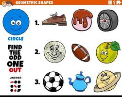 circle shape objects educational game for kids