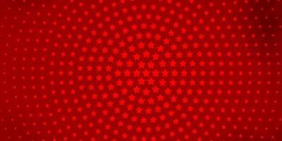 Dark Orange vector pattern with abstract stars.