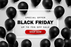 Black Friday background or special offer promotion sale banner for business and advertisement poster vector