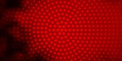 Dark Orange vector texture with beautiful stars.