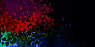 Dark multicolor vector pattern with polygonal shapes.