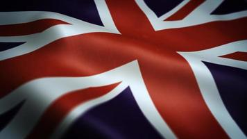 Vereinigtes Königreich winkt strukturierte Hintergrundschleife video