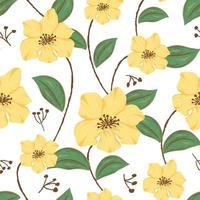 Seamless pattern with flowers concept in the white backdrop vector