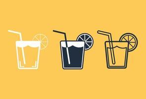 Orange juice icon set