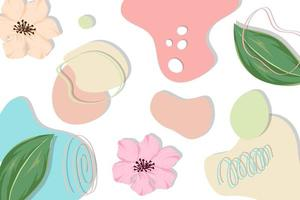 Abstract floral background with pastel color vector