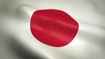 japanischer Flaggenhintergrund, der auf einer nahtlosen Schleife winkt video