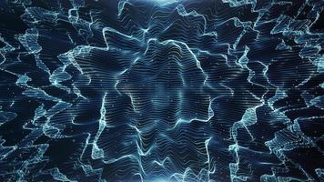 abstrakt leuchtendes Netz mit extrudierten Mustern Hintergrundschleife video