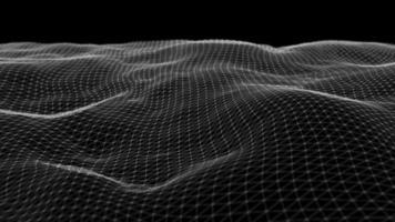 formas abstratas de grade ondulando fundo loop fractal