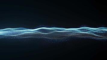 malha brilhante abstrata acenando loop de fundo fx video