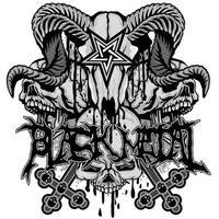 Black metal skull vector