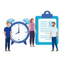 group of people with checklist characters vector