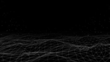 Fondo de vfx de formas abstractas de polígonos bajos video