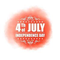4 de julio día de la independencia del diseño americano en el concepto de acuarela vector