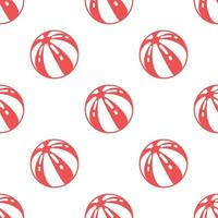 Seamless beach ball pattern background,Vector and Illustration.