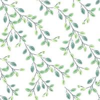 Repeat seamless pattern with watercolor style and nature concept vector