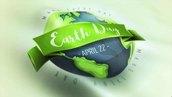 Happy Earth Day Wellenflagge Animationsschleife
