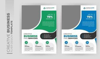 Folleto de negocios corporativos modernos y diseño de portada de folletos. vector