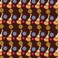 Mexican guitar pattern background